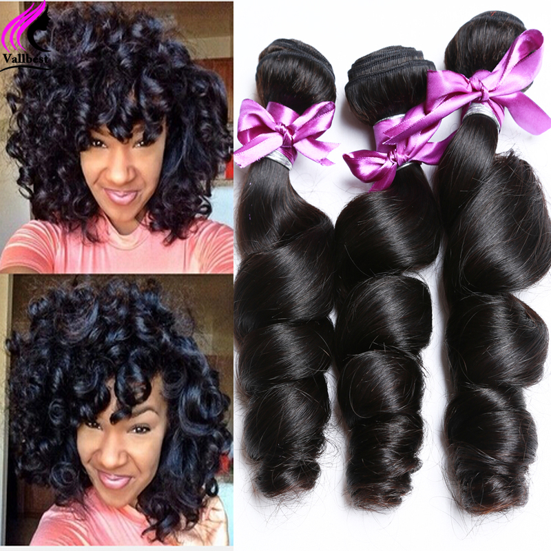 Brazilian Virgin Hair Loose Wave 3 Bundles Brazilian Hair Bundles Brazilian Loose Wave Human Hair Bundles Brazilian Loose Curly