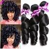 Brazilian Virgin Hair Loose Wave 3 Bundles Brazilian Hair Bundles Brazilian Loose Wave Human Hair Bundles Brazilian Loose Curly