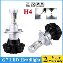G7 автомобиля светодиодный лампы 16000LM luxeon ZES LUMI светодиодный чип светодиодный 6000 K лампы H1 H4 H7 881 H11 9005 авто фары спереди лампочки