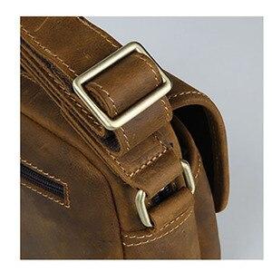 Image 5 - Aetoo Mannen Lederen Schoudertas Eenvoudige Koeienhuid Crossbody Tas Mannelijke Tas Japanse Casual Pack