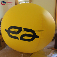 0.18mm pvc event decoration 2m diameter advertising blimp inflatable helium balloon with customized printed logo