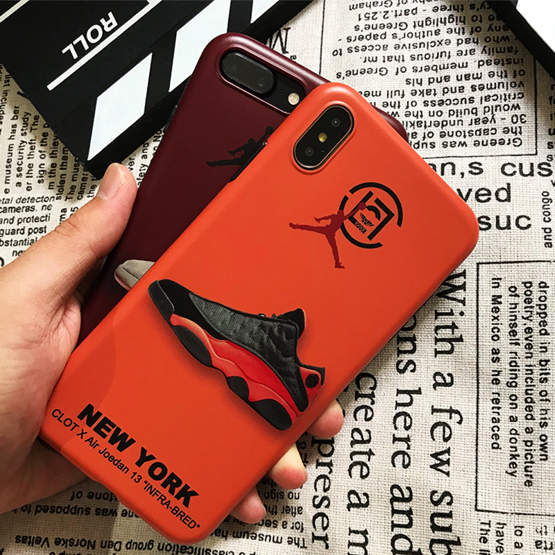 HOT Trend brand CLOT Case cover for iphone 6 6S 7 8 plus X10 XS MAX XR Super fly man Jordan  AJ13 Soft silicon Retro Phone coque