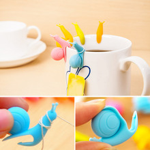 10pcs/5pcs/1pcs Silicone Tea Clips For Bag Holder Teabags Green Puer Flower Convenient Teacup Mug Snail Teas Clip