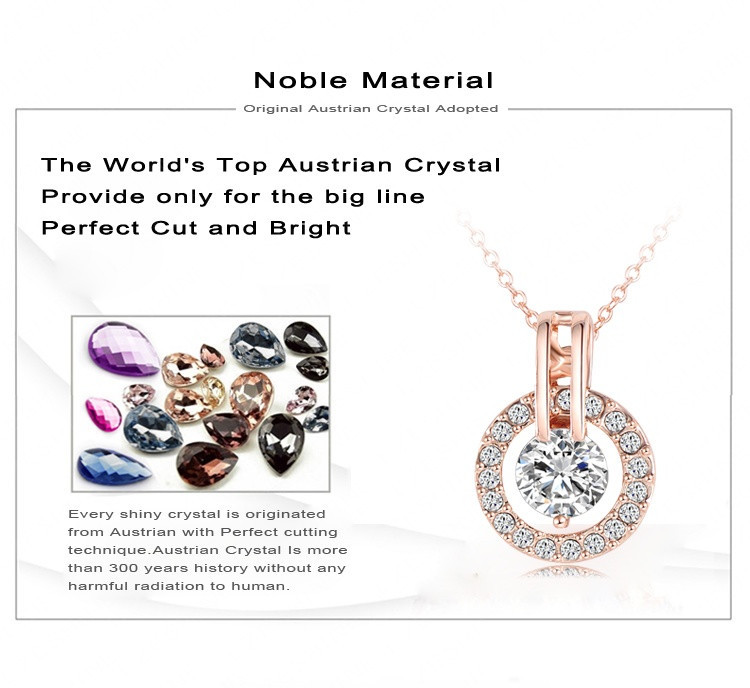 LZESHINE New Big Sale Wedding Jewelry Sets for Women Rose Gold Color