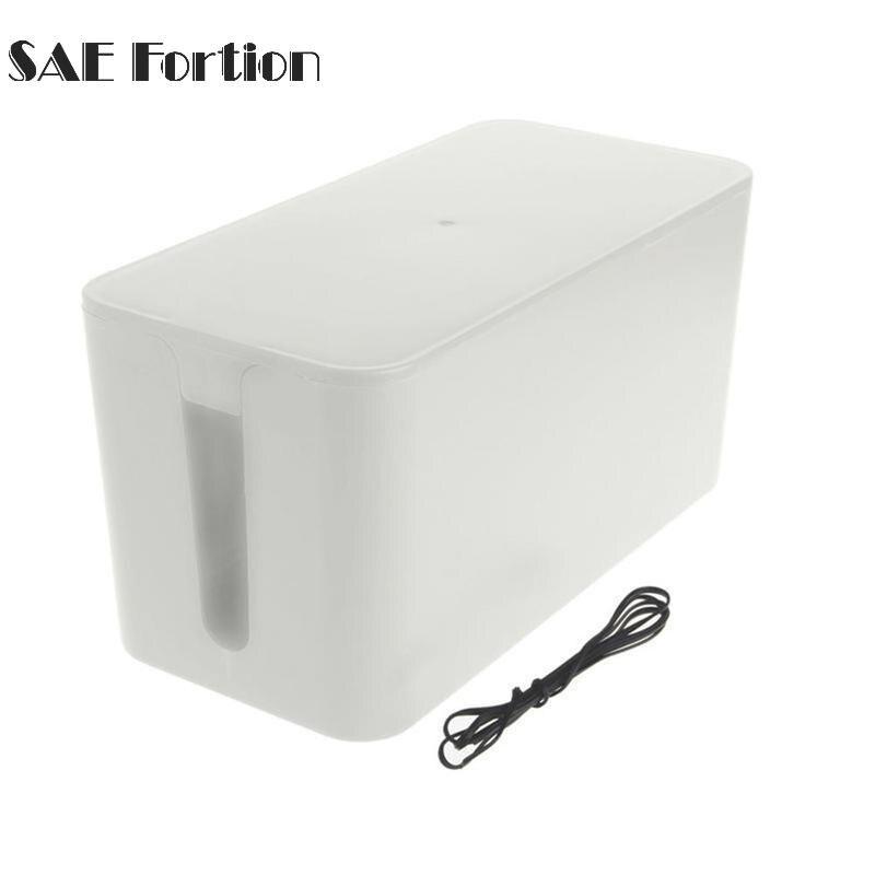 5 Color Storage Box Mini Wire Storage Box Plastic Storage Box Power Line Organizer Cable Collection Cases Storage Tool