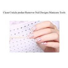 цены на 100 pcs Wooden Cuticle Pusher Nail Art Cuticle Remover Orange Wood Sticks For Cuticle Removal Manicure Nail Art Tools  в интернет-магазинах