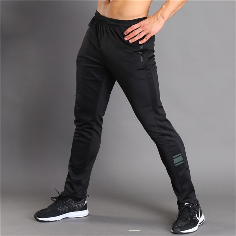 Zogaa Breathable Jogging Pants Men Fitness Joggers Running Pants With Zip Pocket Training Sport Pants For Running Tennis Soccer
