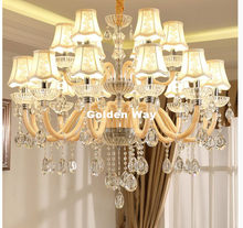 Free Shipping Modern K9 Crystal Chandelier Lustre Crystal Chandeliers Light Lustres De Cristal Chandelier LED AC Villa Lighting(China)