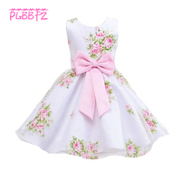 Retail New Hot Style 2 Colors Beautiful High Quality Flower Girl Dresses Children Kids Wedding Party