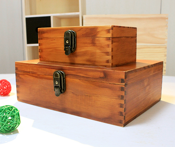 Large New Wooden Storage Box Diy Crates Toy Boxes Set: The Wooden Box Containing High Grade Paint Retro
