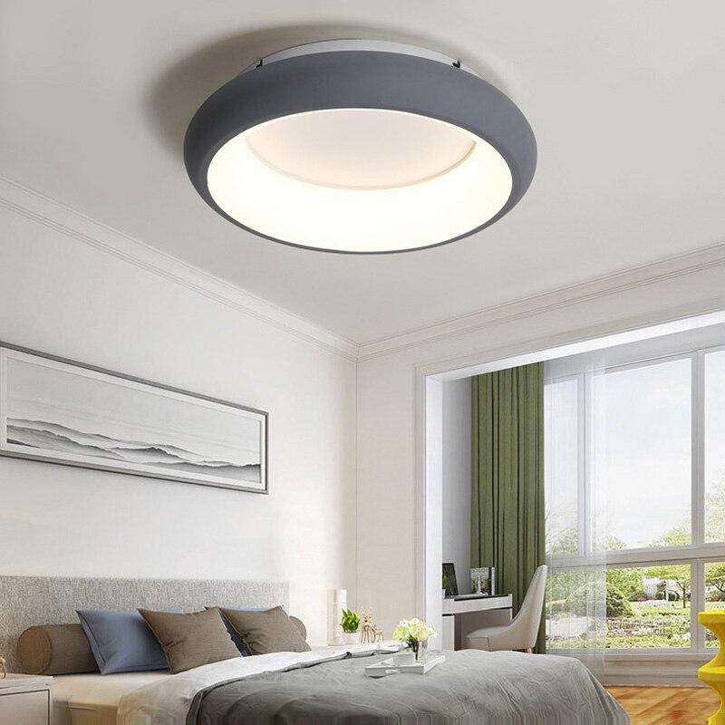 2018 Offre Spéciale Nouveau Ce Scandinave Moderne Circulaire Salon Lumières Personnalité Plafonnier Chaud Chambre Lampe Simple