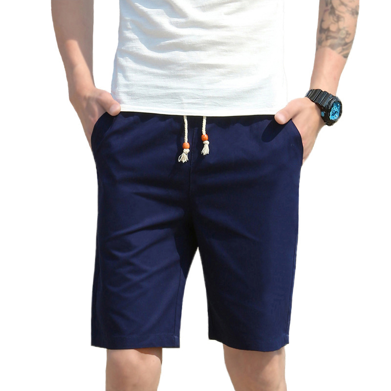 2018 Brand Clothing Elastic Waist Shorts Men Solid Breathable Casual Shorts for Male Hot Beach Cotton Shorts Male Homens Shorts