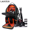 LANVEIN Professional Photo Bag Nylon Digital Shoulder DSLR Camera Bag Waterproof camera backpack for sony nikon Canon camera
