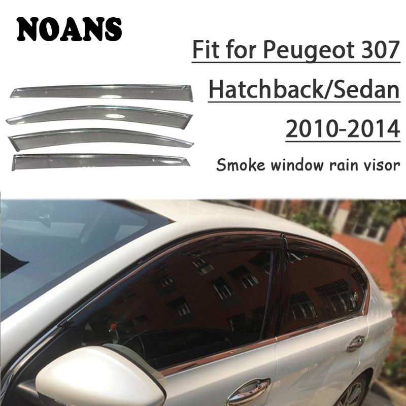 NOANS 4pcs For Peugeot 307 Hatchback/Sedan 2014 2013 2012 2011 2010 Accessories Auto Car Windows Sun Rain Visor Door Shield Trim Awnings & Shelters Automobiles & Motorcycles - title=