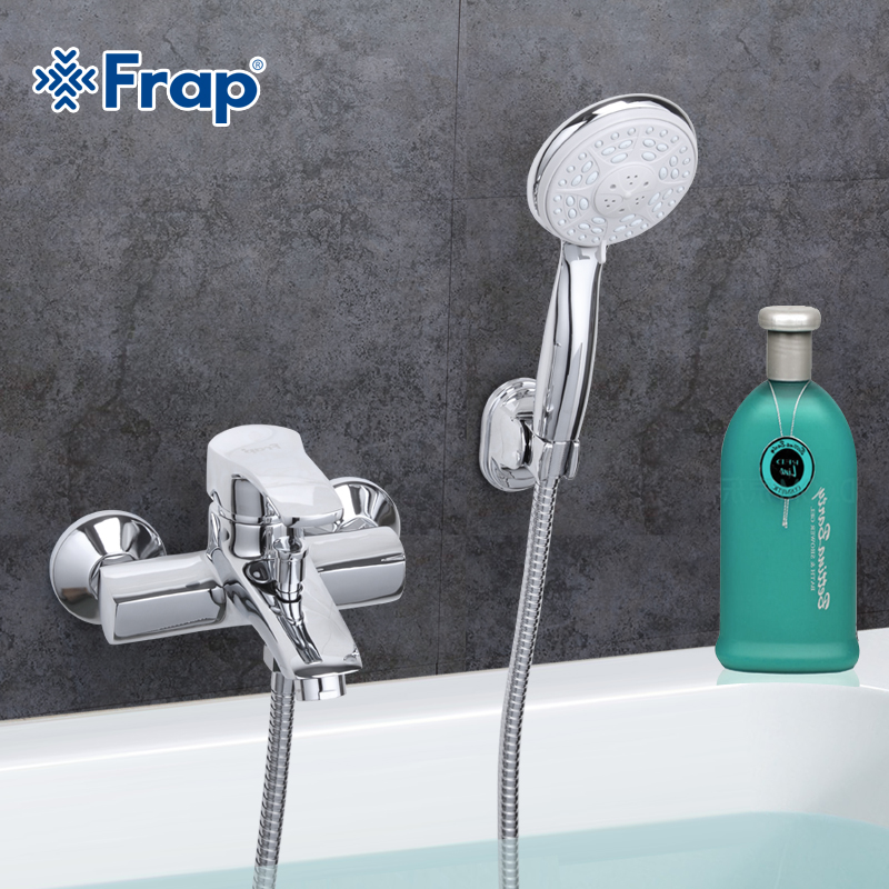 Frap 1 Set Modern Style Bathroom Faucet Cold and Hot Water Mixer Tap Single Handle F3070