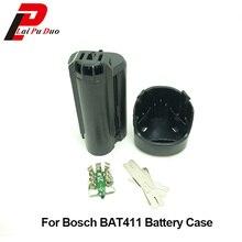 Caixa plástica da bateria da ferramenta elétrica (sem pilhas da bateria) para bosch 10.8 v, bat 411 411a bat411 gsr 10.8 li