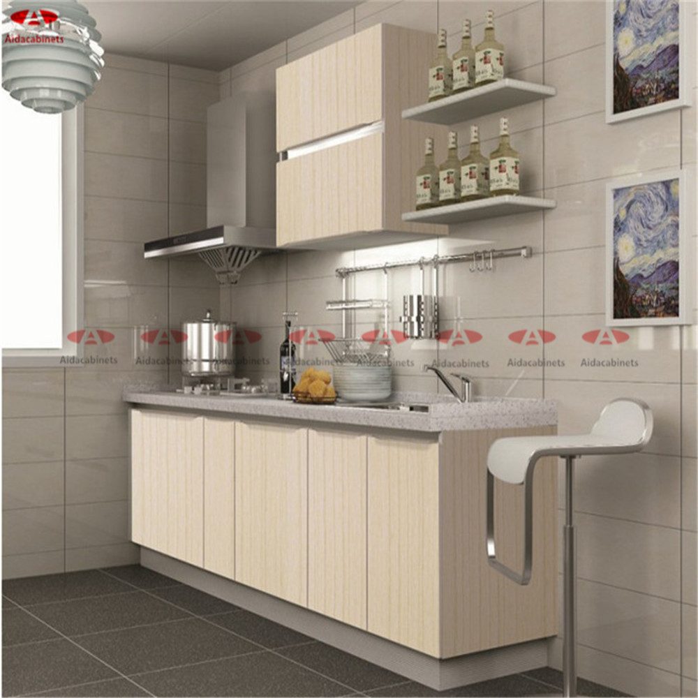 Modular yellow wooden grain stainless steel commercial ...