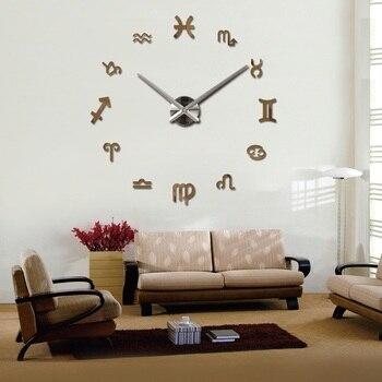 new fashion diy wall clock europe 3d big quartz watch clocks living room large home decorative still life circular stickers 8