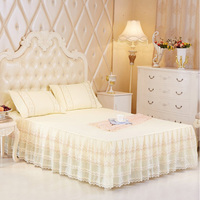 lace bed skirt queen size 180x200cm twin bed skirt romantic bedspread one piece free shipping