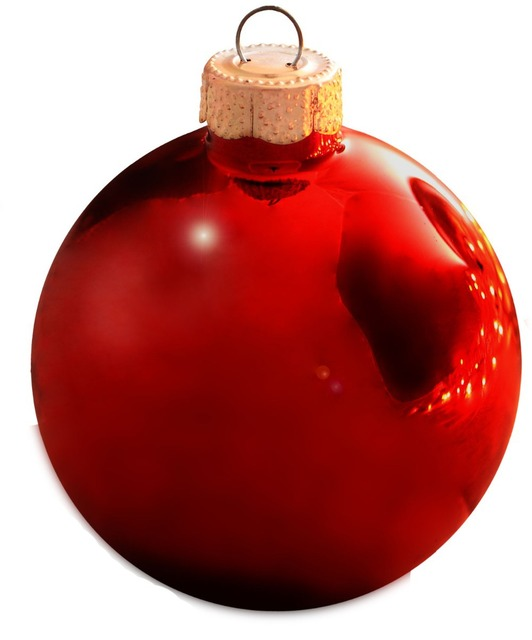 Customized Accept - Bauble Ornaments Christmas Xmas Tree Glass Balls Decoration 80mm Christmas Red Ball Ornament - Shiny