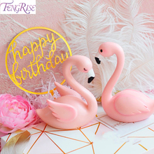 все цены на FENGRISE Flamingo Birthday Party Cake Topper Flamingo Decor Home Collectible Flamingo Ornament Cake Table Plate Decorative онлайн