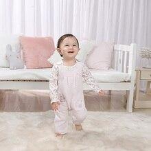 2Pcs/set Super Soft Cotton Baby Unisex Rompers Overalls Newborn Clothes Long Sleeve Roupas de bebe Infantis Girl clothing стоимость