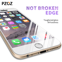 Pzoz Screen Protector For Iphone 6s Tempered Glass Film 3D Full Cover Anti Blue Light For