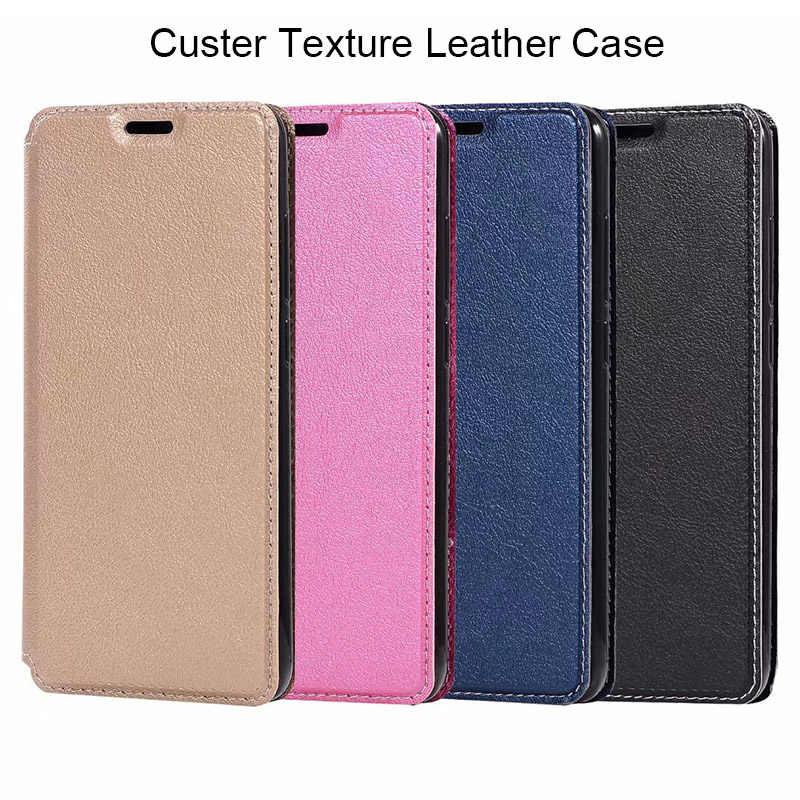 Custer Texture Flip Cover Leather Case for Huawei P10 P20 Lite P Smart Y5 Y6 Y9 Prime 2018 Case for Honor 7X 7C 10 9 Lite 7A Pro
