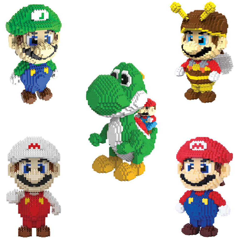 Mini Aciton Figures Big Size Super Mario Yaoshi Building Nanoblocks Auction Juguetes Anime Doll Xmas Birthday Gifts for Kids 6pcs set disney toys for kids birthday xmas gift cartoon action figures frozen anime fashion figures juguetes anime models