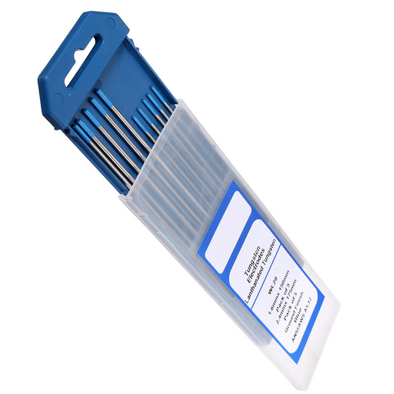 2% Lanthanated WL20 TIG Welding Tungsten Electrode 1.6mmx150mm +2.4mmx175mm wt20 tig welding tungsten electrode 2