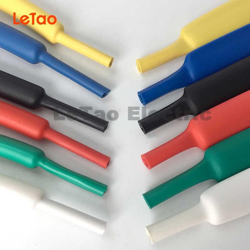 Heat Shrink 40mm long Pack of 30 6.4mm shrinks to 3.2mm BLACK