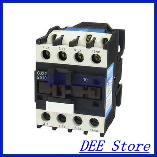660V 40A 3 Phase 3P NO AC Contactor DIN Rail Mount 24V Coil CJX2-2510 35mm din rail mounted 3p 1no 380v coil 25a ac contactor cjx2 2510