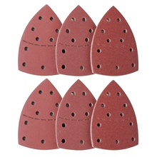 60Pcs Sanding Plate, Mouse Sander For Psm 200 Aes, Psm 18 And All Vibration Multi-Tools, 10 Pieces Each 40/60/80/120/180/240 G