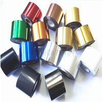 black silver wide 5CM hot foil printer hot stamping foil for heat press machine golden silver red green blue white blue black free shipping (2)