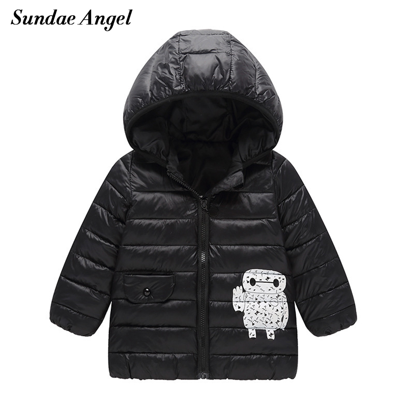Sundae Angel Baby parka jackets Winter Long Sleeve Hooded Kids Girls Boys Down Jacket Cotton Outerwear Coats Children Clothing