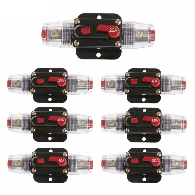 20-100A DC 12V Home Car Auto Circuit Breaker Fuse Reset Inverter New