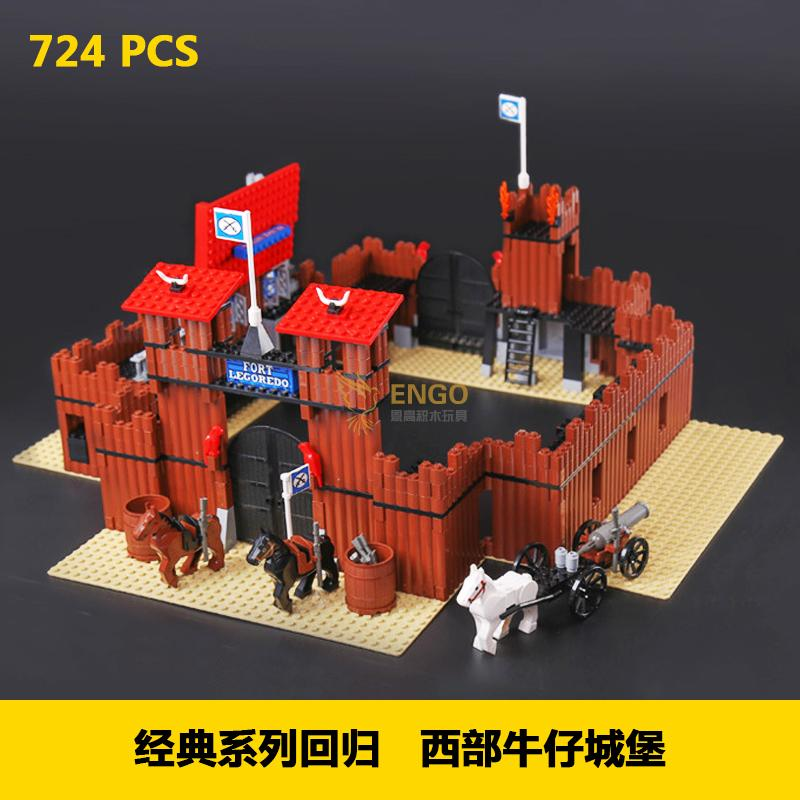 Lepin 33001 742Pcs Genuine Building Series The Idian Cowboy's Castle Set Educational Building Blocks Bricks Toys Model Gift 6769 lepin 16017 castle series genuine the king s castle siege set children building blocks bricks educational toys model gifts