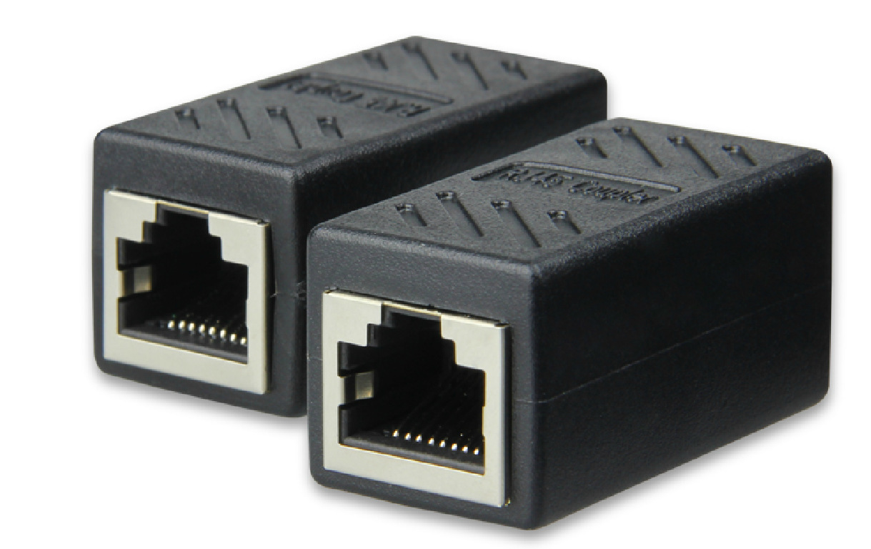 Rj45 Network Cable Connector To Dual Pass Straight Through Wiring Module Extension Pcb In Connectors From Lights