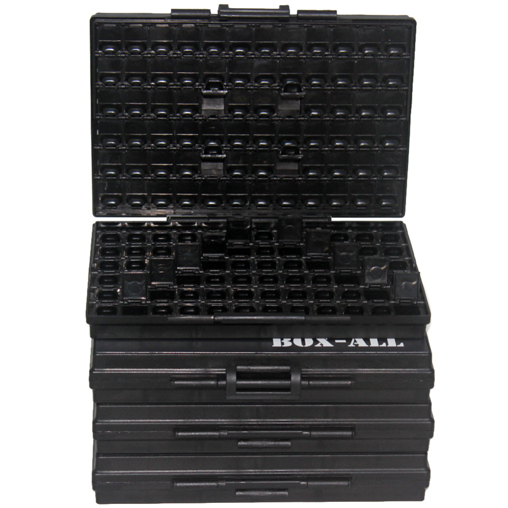 Tool Organizers Esd Safe Smd Ic Box W/144 Bins Anti-statics Smd Smt Organizer Transistor Diode Plastic Part Box Labels 4boxallas Convenience Goods Back To Search Resultstools Modest Aidetek 4box