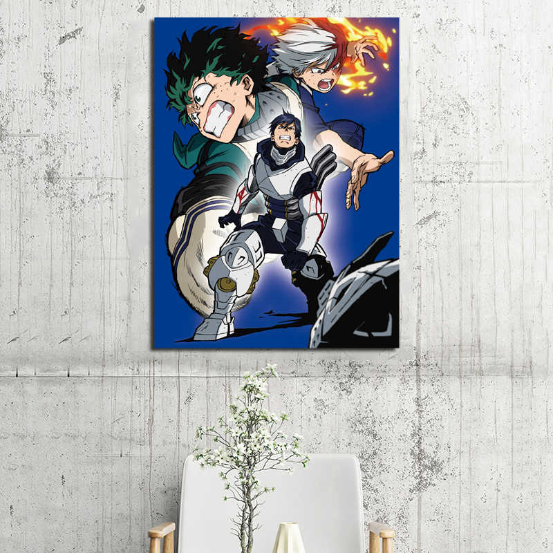 اليابان أنيمي بطلي الأكاديمية خلفيات الفن قماش المشارك اللوحة النفط جدار الصورة طباعة الحضانة الحديثة المنزل غرفة نوم الديكور