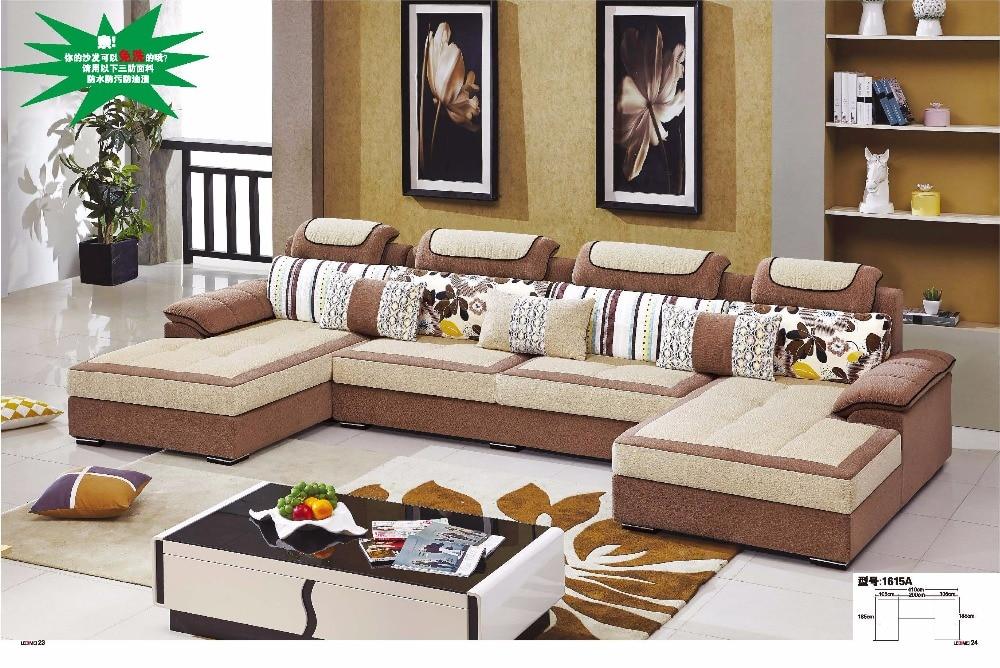 captivating shape sofa living room sets | LDM1615A Modern living room sectional U shape sofa set ...