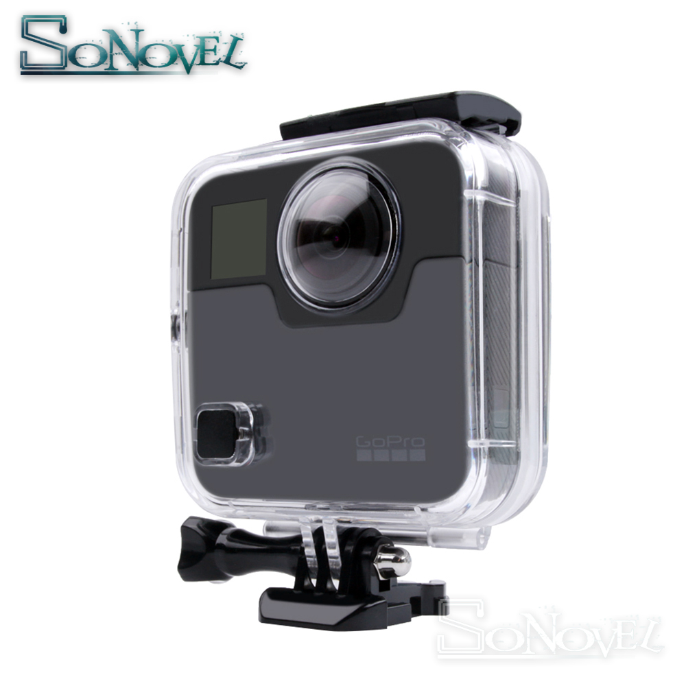 US $35 98 26% OFF|45M Waterproof Housing Case For Gopro Fusion 360 Camera  Underwater Box Back Door For Go Pro Fusion Action Camera Accessories-in