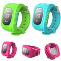 Kids GPS Tracking Smart Watch Sos Watch GPS Tracker Device Silicone Q50 Hot Pink GPS Bluetooth Children Kids Smart Watch
