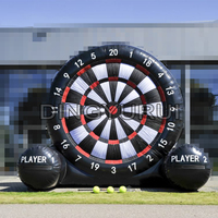 PVC Inflatable Foot Darts Board Game inflatable football target dart board