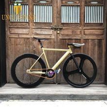 Fixed Gear Bike 54cm  58cm  single speed bike Smooth Welding frame  Aluminum alloy Track Bicycle 700C wheel DIY color 2015 top quality 54cm smooth welding track bike fixed gear bicycle frame frame and fork together free shipping