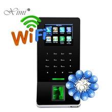 Дешевый ZK F22 wifi TCP/IP биометрический контроль доступа к отпечаткам пальцев двери цветной экран посещаемость времени с 125 кГц RFID считыватель карт