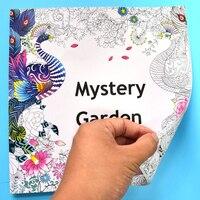 Yetişkinler için 24 Sayfa Gizem Bahçe Kitap Boyama Kitapları Çocuklar Antistres Sanat Kitapları Mandala Gizli Bahçe Sessiz Renk Çizim