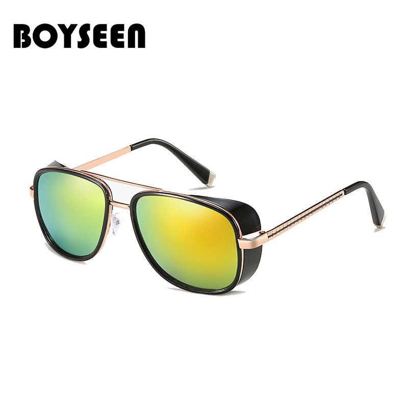 609079184 ... Tony Stark Iron Man Sunglasses Men Luxury Brand Eyewear Mirror Punk Sun  Glasses Vintage Male Sunglasses