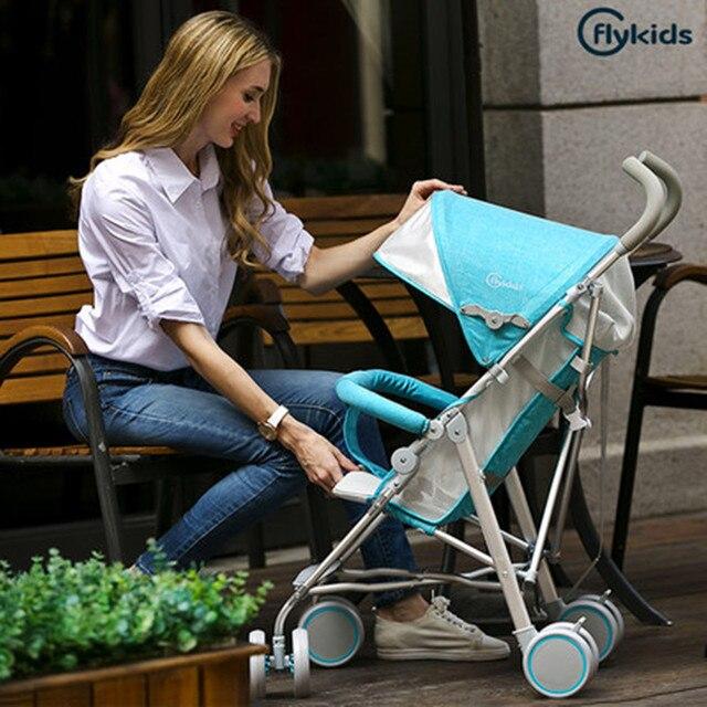 Flykids Urltra Light Baby Stroller Pram Children Pushchair Aluminum Alloy Frame