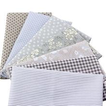 7pcs/lot Gray Floral Patchwork Cotton Fabric Fat Quarter Bundles Sewing Textile Fabric For Bags Sofa Fabric 40x50cm J2-7-1 цена в Москве и Питере